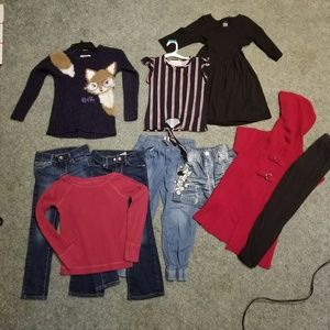 Girls 6 7 8 clothing bundle